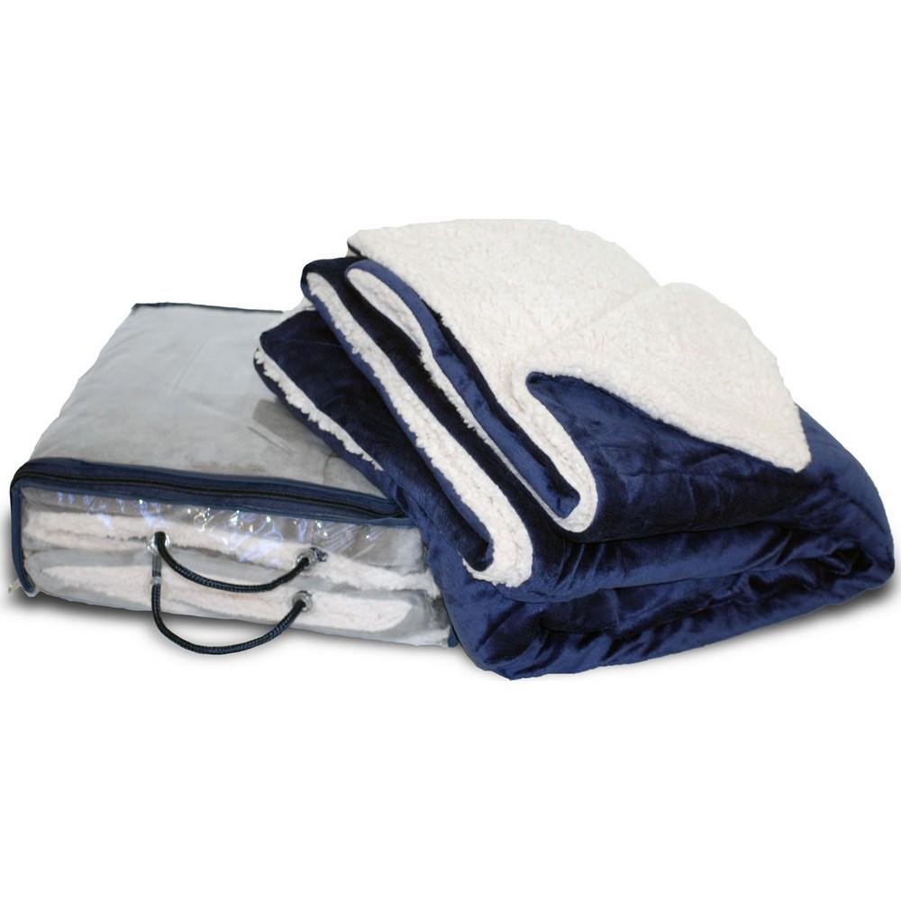 Micro Fur Sherpa 50x60 Throw Blanket