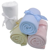 Fleece Baby Blanket with Bow