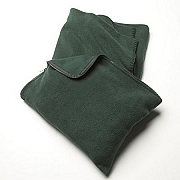 Micro Fleece 50x60 Travel Throw Blanket with Pillow Sack