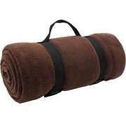 Polar Fleece 50x60 Stadium Blanket with Carry Strap