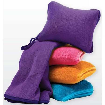 Throw Blanket And Decorative Pillow Set : Nap Travel Set (Fleece Pillow & Blanket)