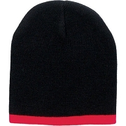 Two-Color Short Knit Beanie