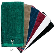 Tri-Fold 16x25 Golf & Sport Towel (Center Grommet & Hook)